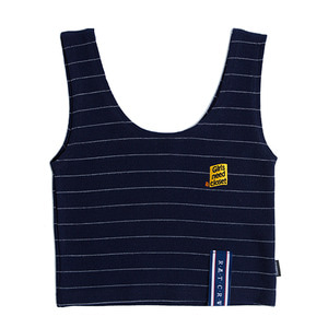 Stripe Knit Sleeveless_Navy
