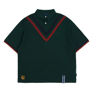 Chest Point Collar T Shirt_Green