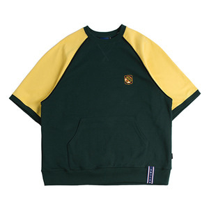 Raglan Piping T Shirt_Green