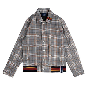 Color Tape Check Jacket_Black