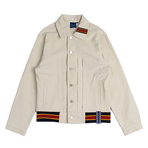 Color Tape Corduroy Jacket_Oatmeal