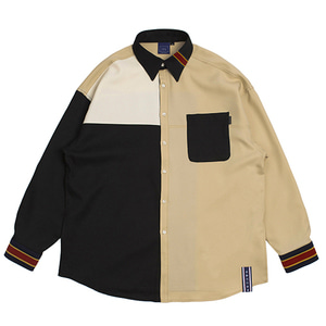 Color Block Shirt_Black