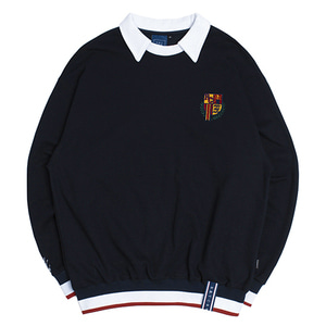 E.D.V Collar Crew Neck_Navy