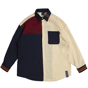 Color Block Shirt_Navy