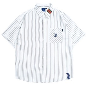 E.D.V Stripe Half Shirt_White