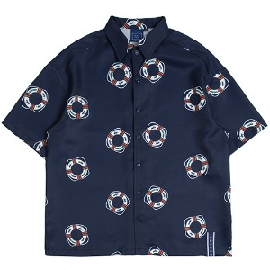 Life Belt Bowling Shirts_Navy