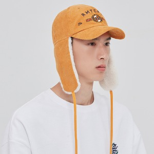 CORDUROY TROOPER HAT_YELLOW