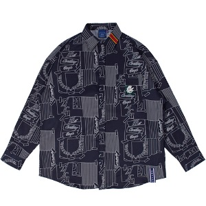 OUTLINE GRAPHIC SHIRT_NAVY