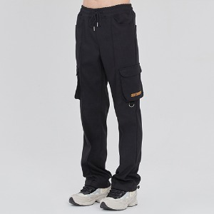PIN TUCK POCKET PANTS_BLACK