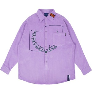 CORDUROY WIDE SHIRT_PURPLE