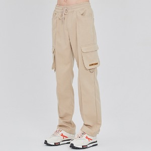 PIN TUCK POCKET PANTS_BEIGE