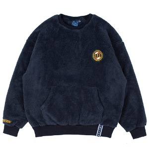 ALL FLEECE POCKET CREW NECK_NAVY