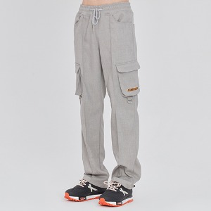 PIN TUCK POCKET PANTS_GREY
