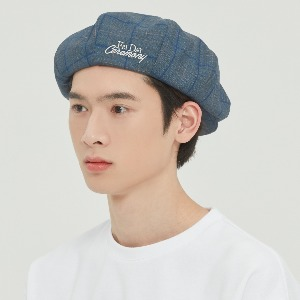 FRIDAY NEWSBOY CAP_BLUE