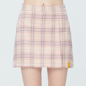 TARTAN CHECK WRAP SKIRT_PINK