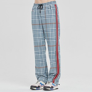SIDE LINE CHECK PANTS_LIGHT BLUE