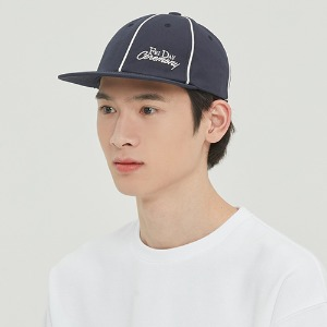 FRIDAY PIPING BALL CAP_NAVY