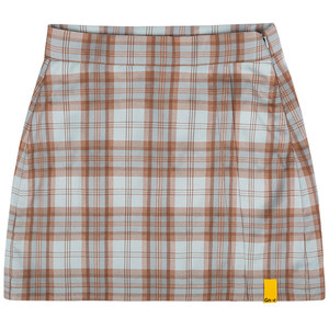 GNAC CHECK WRAP SKIRT_BROWN