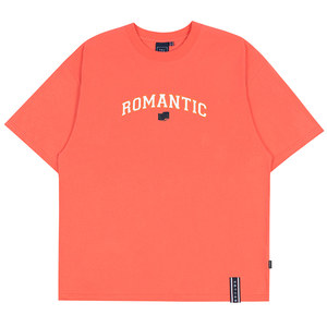 ROMANTIC ARCH LOGO TEE_CORAL