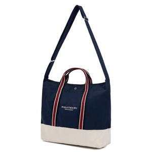 RMTCRW STRIPE TOTE BAG_NAVY