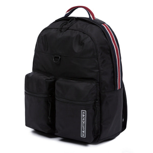 CEREMONY DOUBLE POUCH BACKPACK_BLACK