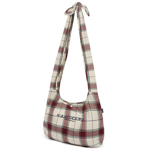 CROSS CHECK SHOULDER BAG_OATMEAL
