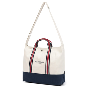 RMTCRW STRIPE TOTE BAG_OATMEAL