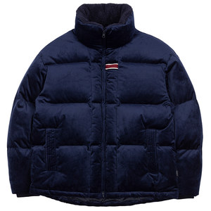 VELVET DUCK DOWN PARKA_DARK BLUE