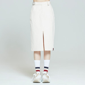 FRONT PLACKET SKIRT_OATMEAL