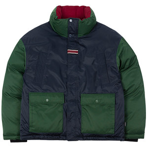 COLOR BLOCK POCKET PARKA_GREEN