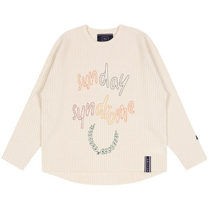 SUNDAY SYNDROME SCRIBBLE LOGO KNITWEAR_OATMEAL