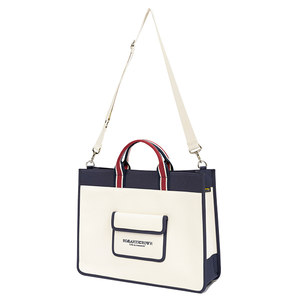 SIGNATURE LOGO SHOPPER BAG_OATMEAL