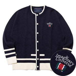 ROUND NECK KNIT CARDIGAN_NAVY
