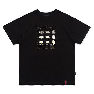 FLOWER ILLUSTRATION TEE_BLACK