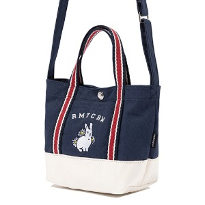 WOMAN RABBIT TOTE BAG_NAVY
