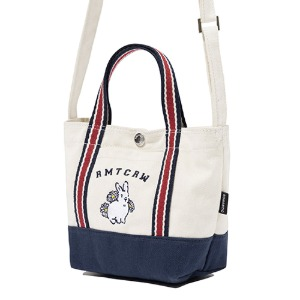 WOMAN RABBIT TOTE BAG_OATMEAL