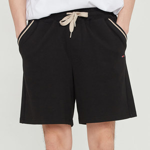 POCKET RIBBED SHORTS_BLACK