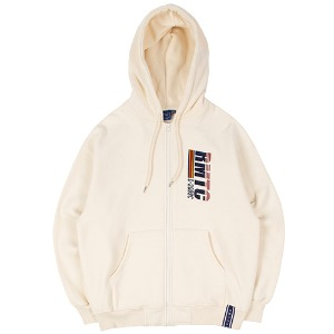 RMTC LOGO HOOD ZIP UP_OATMEAL