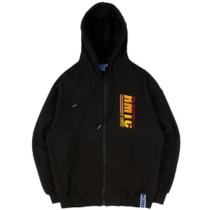 RMTC LOGO HOOD ZIP UP_BLACK
