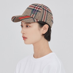 OLD CHECK BALL CAP_BEIGE