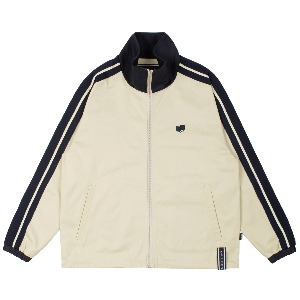BACK POCKET TRACK JACKET_OATMEAL
