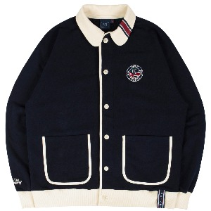 ROUND COLLAR COTTON CARDIGAN_NAVY